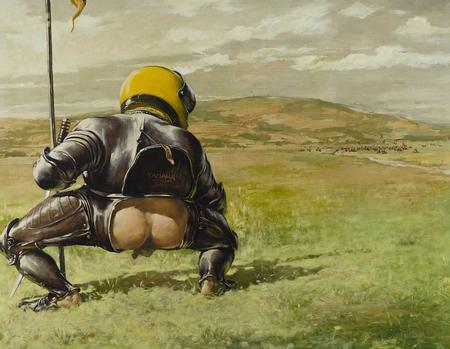 Obraz Epizod bitewny czyli sraczka samuraja, Leszek Żegalski DAGMA ART