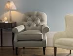 Fotele tapicerowane w tkaninie i skórze LAURA ASHLEY - zdjęcie 6