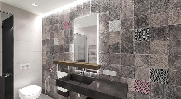 Nowoczesne wnętrze. Projekt łazienki