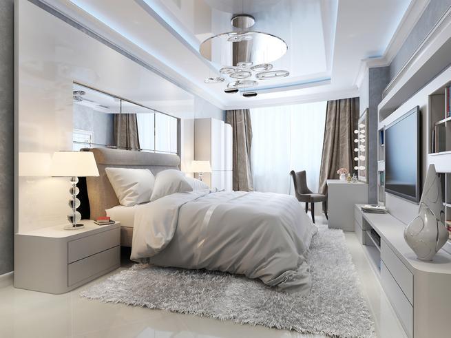 Aranżacja sypialni - hotelowy wystrój wnętrz