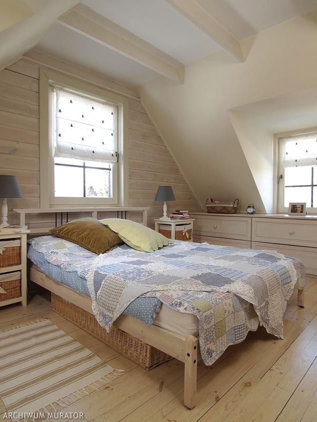 Zobacz Galerię Zdjęć Sypialnia Na Poddaszu W Stylu